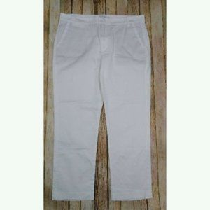 Vince Coin Pocket Chino White Cropped Size 4 Cotton Workwear Slim